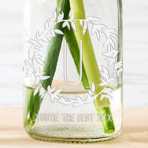 Personalised Mum Bottle Bud Vases (Set Of 3)