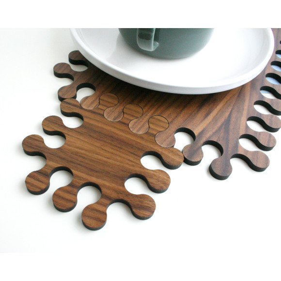interlocking coaster and placemat
