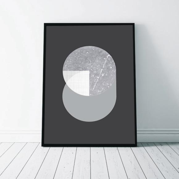 Circular Marble Art Print - 2