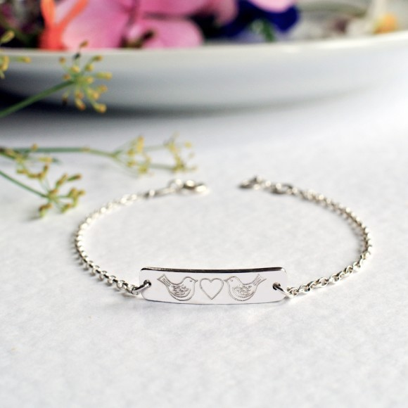 Sterlin silver little bar bracelet