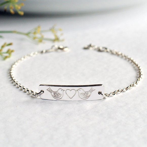 Sterling silver little bar bracelet