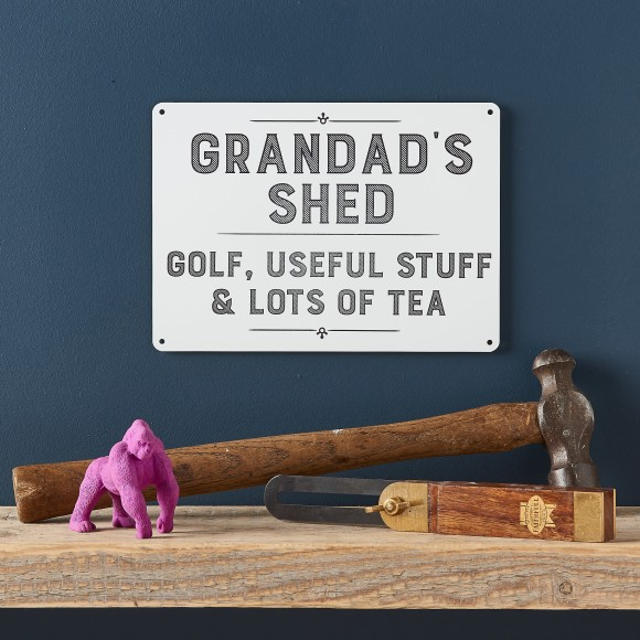 Gift ideas presents hard to find gifts hardtofind personalised grandad shed sign negle Choice Image
