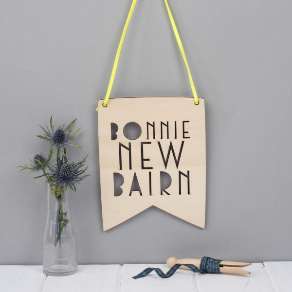 Scottish Phrase Wall Art New Baby Gift Hardtofind