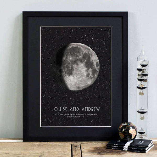 Personalised gifts gift ideas hardtofind personalised special date moon phase print negle Images