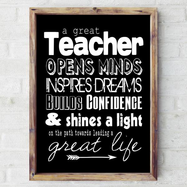 Great Teacher Print Hardtofind
