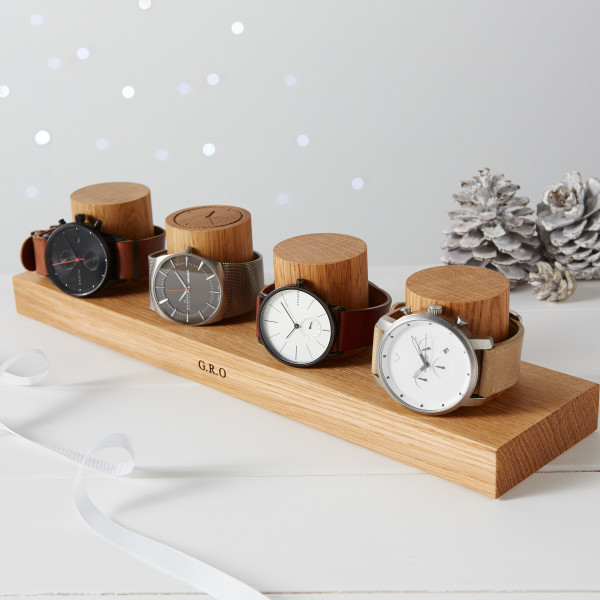 Gifts for dad fathers day gift ideas hardtofind solid oak watch stand for four watches negle Images