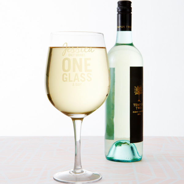 Personalised Giant Wine Glass Just One Glass Hardtofind