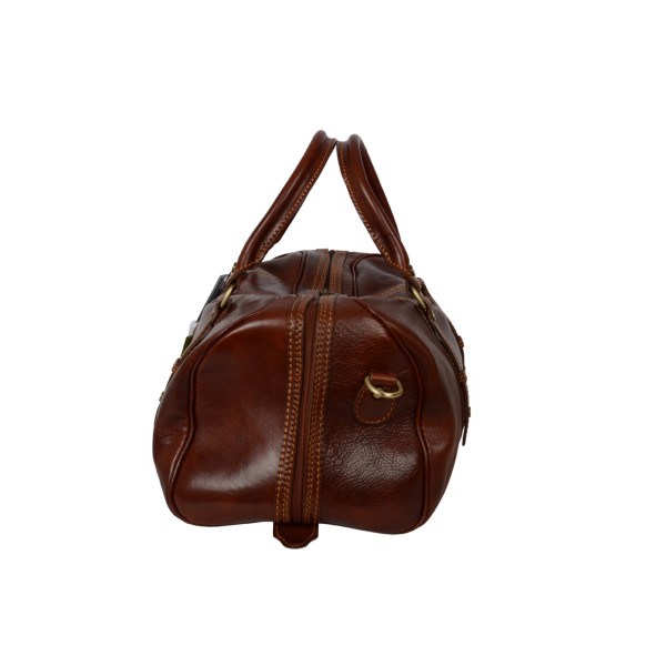 efe9c44315 Polo small brown leather overnight bag