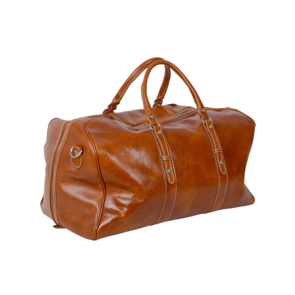 ad2bea1d88 MARCO POLO Honey leather travel bag