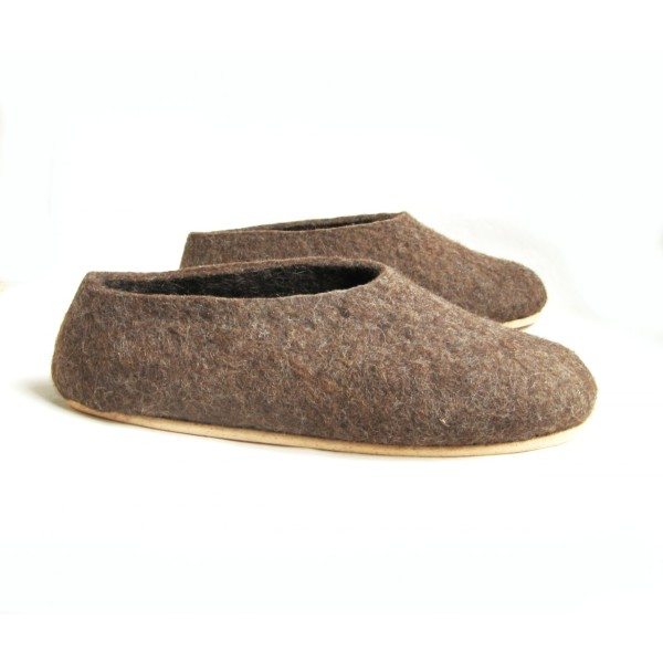 10856a8b6b3a9 Men's eco-friendly felted slippers with cork sole