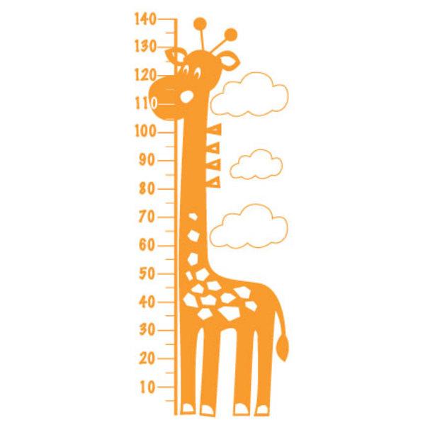 giraffe height chart wall decal   hardtofind.
