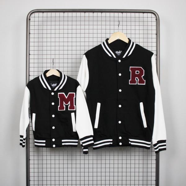 e661358b990 Parent And Child Personalised Varsity Jacket Gift Set | hardtofind.