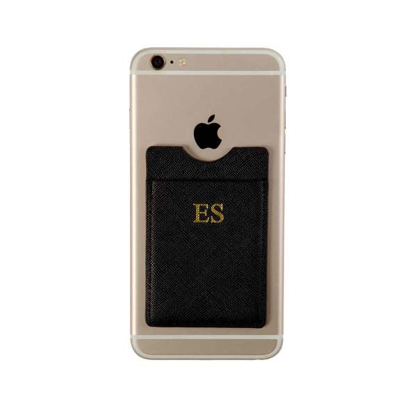 Phone Card Holder >> Personalised Phone Card Holder Black Hardtofind