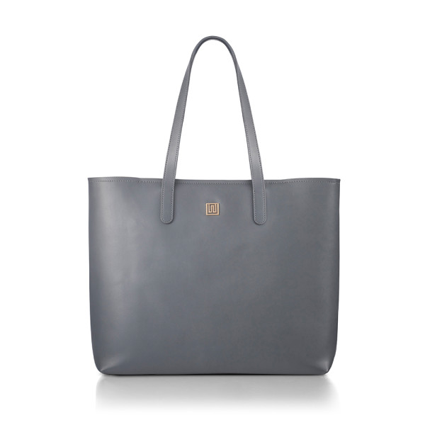 Everyday Grey Nappa Leather Tote  45ab101454244