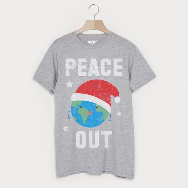 e73f2eb95 Peace Out Men's Festive Christmas T Shirt | hardtofind.