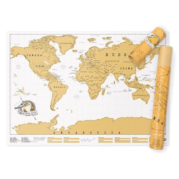 Scratch Off World Map Hardtofind