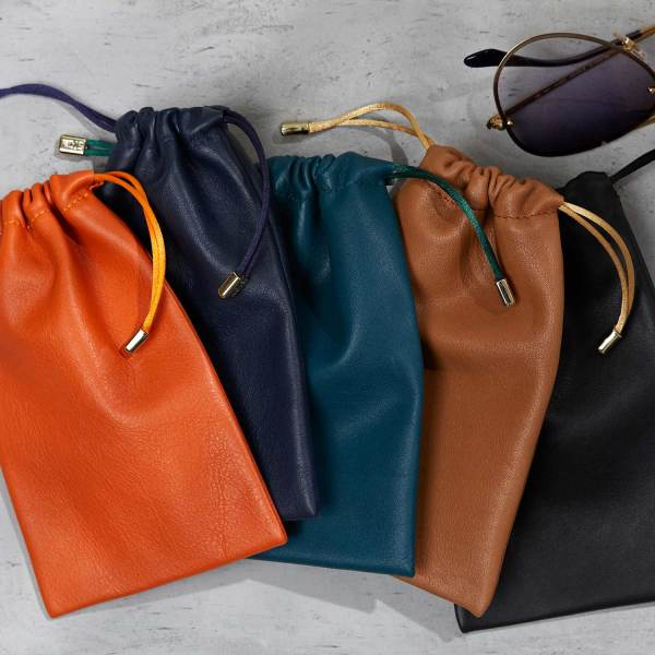 6a6ac926d Soft leather drawstring glasses and accessories pouch | hardtofind.