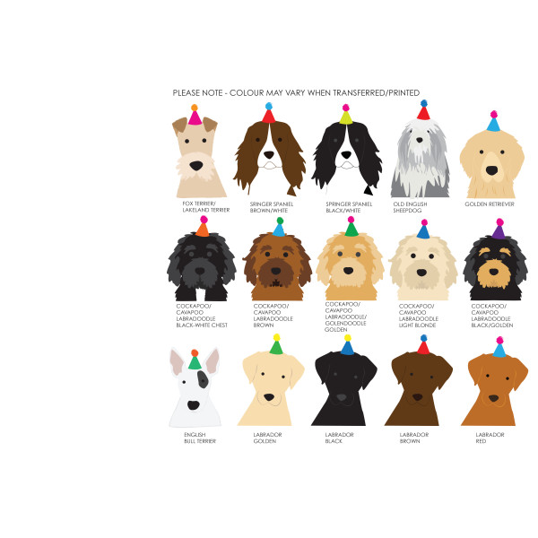 Personalised Birthday Dog Wrapping Paper Two Sheets Hardtofind