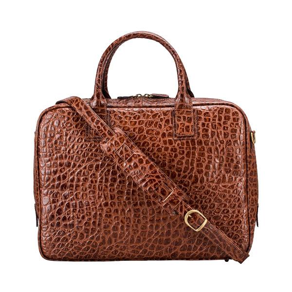 3e5f9e3ab3b The Calvino Croco Luxury Italian Leather Soft Briefcase