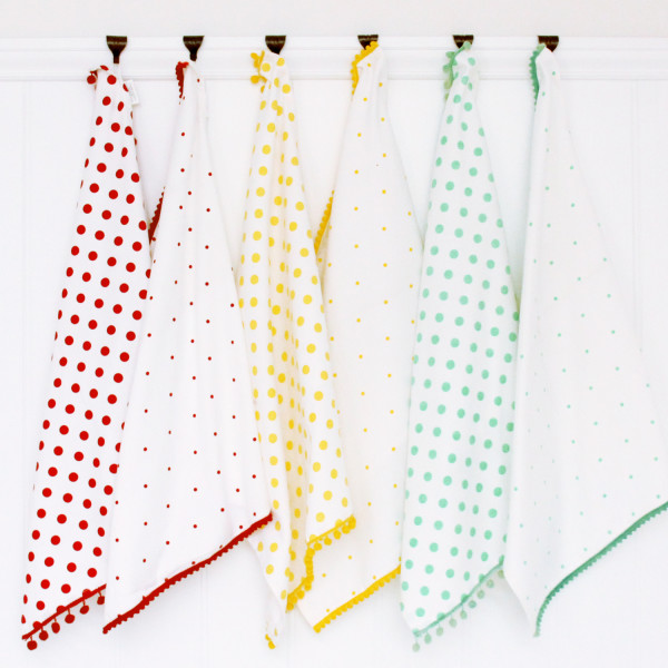 Polka Dot Tea Towels Set Of 6 Hardtofind