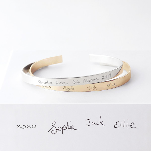 2a3dfa943 Your Handwriting Personalised Cuff Bracelet | hardtofind.