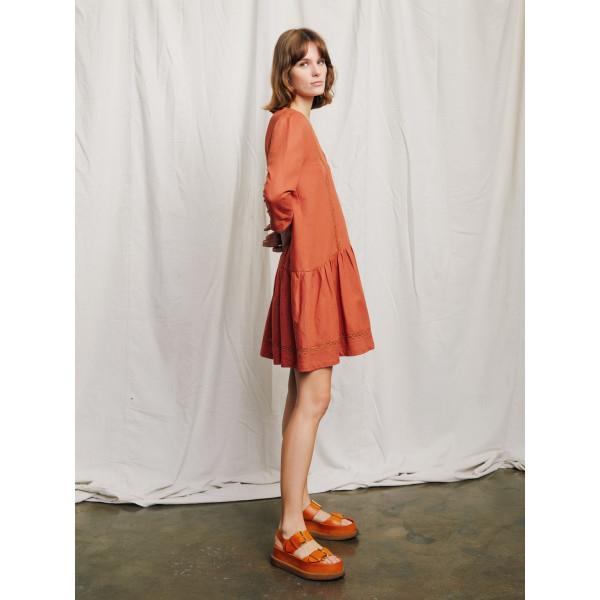 850d5fe926 Emilia linen dress in rust