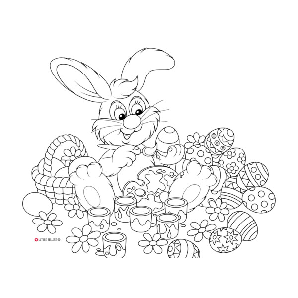 Easter Bunny colour me placemat limited edition
