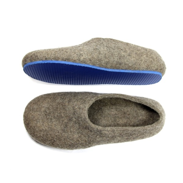 e648e19c93043 Men's Eco Wool Slippers In Blue Whale