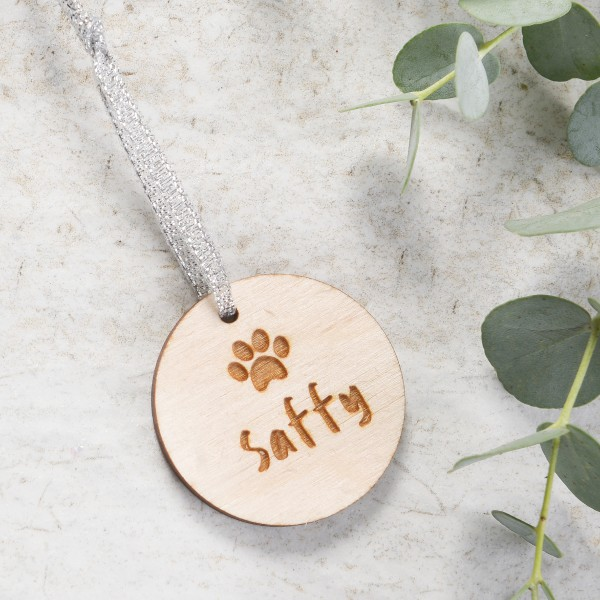 Personalised Pet Wooden Christmas Decoration Hardtofind