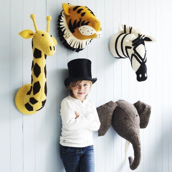 Fiona Walker Felt Animal Head Wall Hanging Hardtofind