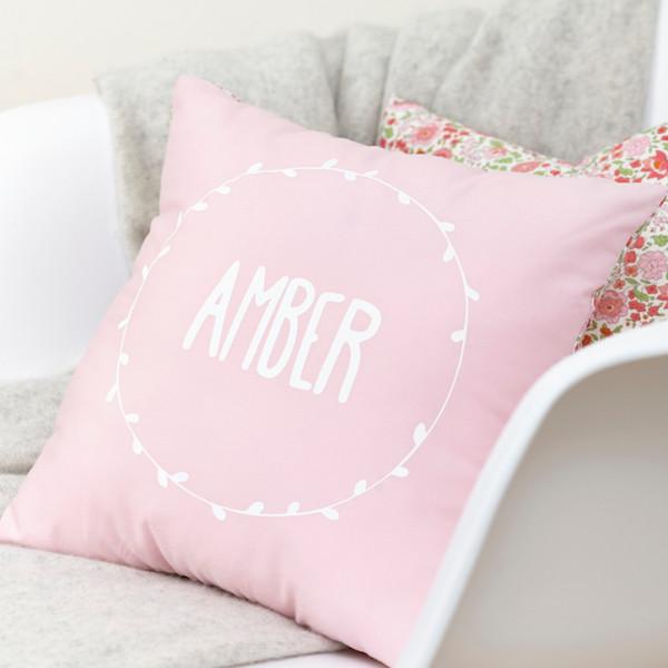 Pale Pink Personalised Liberty Cushion