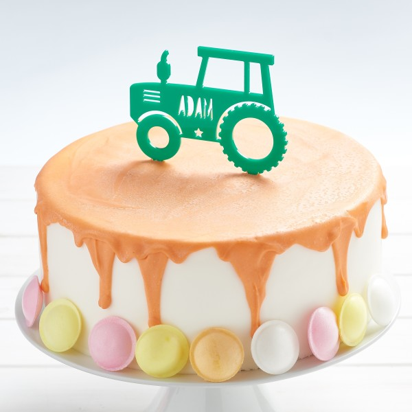 Personalised Tractor Cake Toppers