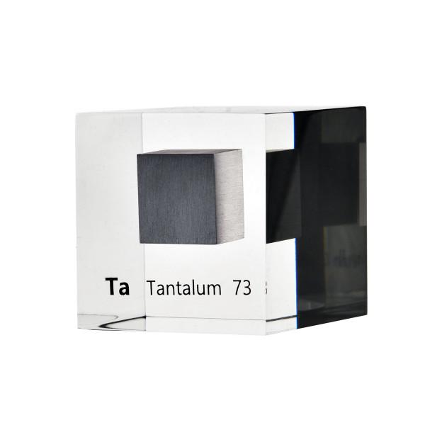Tantalum Metal 50mm Lucite Acrylic Cube