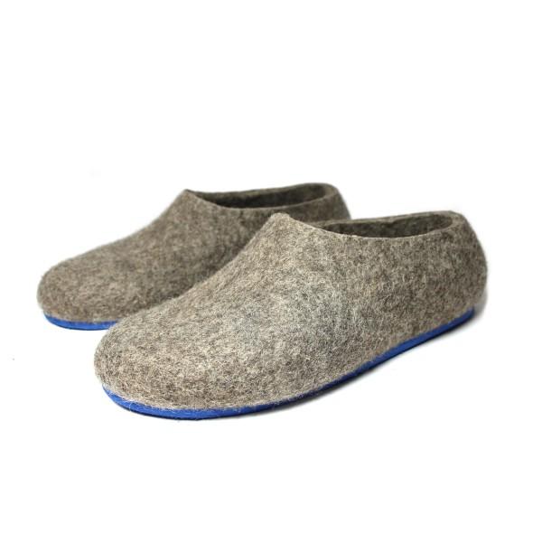 d3b8cc59948ba Men's Eco Wool Slippers In Blue Whale