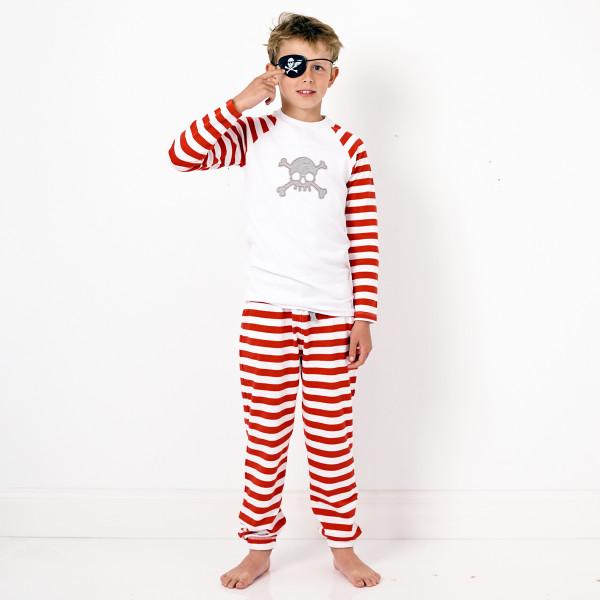 Red striped skull pyjamas  05c0d162f
