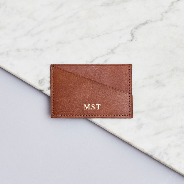 214c622e7bb5 Personalised Leather Credit Card Holder