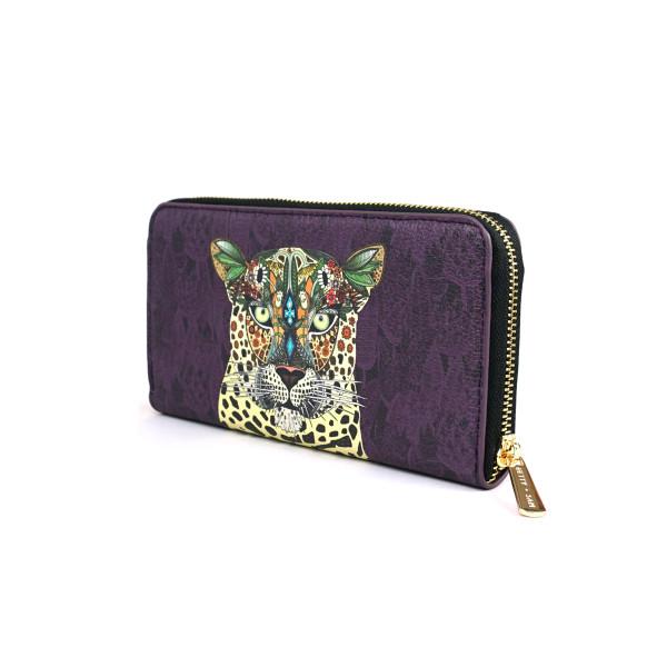 fd9f673dc Leopard Queen Vegan Leather Wallet Purse