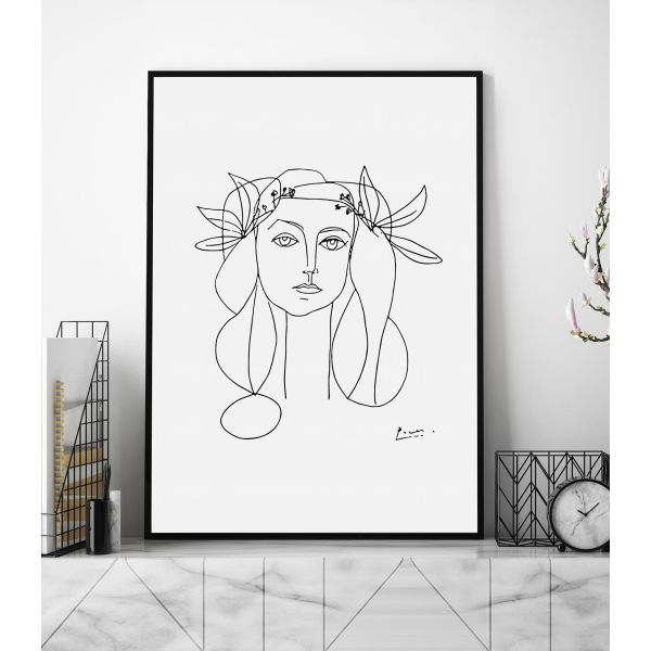 98f4d66ded5e Head Of A Woman by Pablo Picasso Art Print