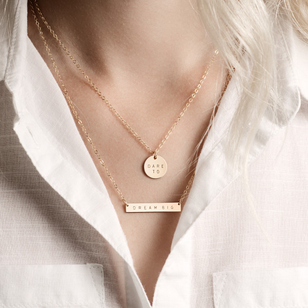 942aed036 Personalised Bar And Disc Necklace Set | hardtofind.