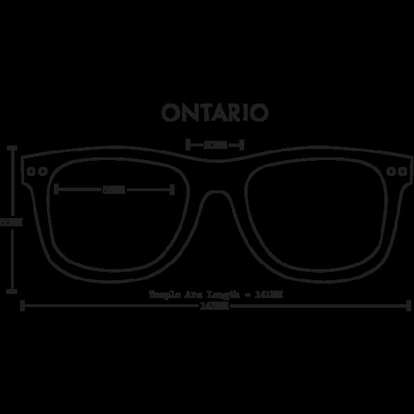 07967b15a6 Proof Ontario Mahogany Polarised Wood Sunglasses