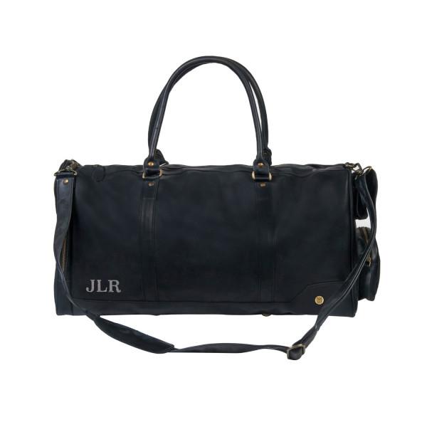 Columbus weekend overnight bag in Ebony Black Leather  4c725c95821fd