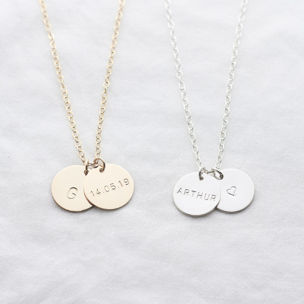8c973df5b Personalised Name Disc Necklace | hardtofind.