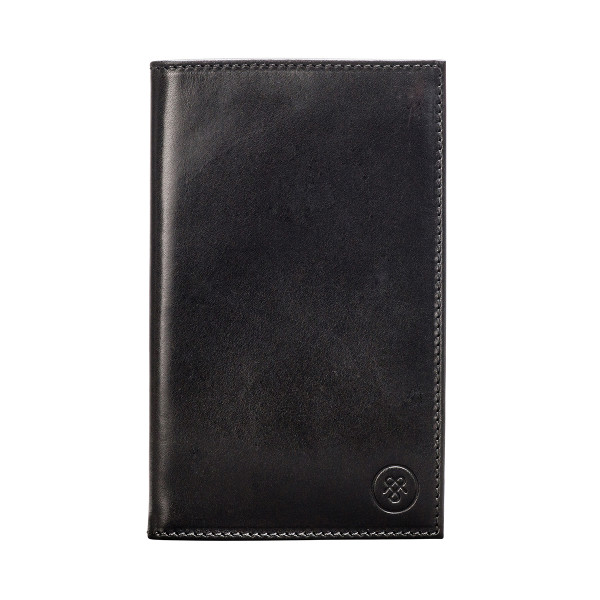 b03cec30bd58 Personalised leather gold score card holder. Sestino golf score card holder  in black
