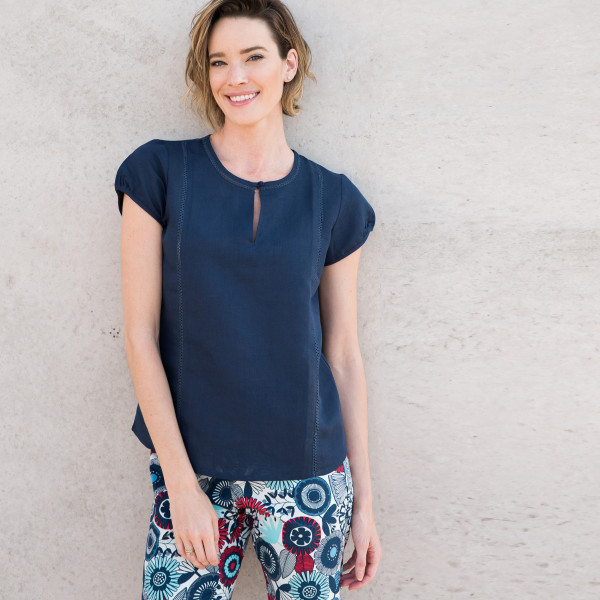 b1bfd3ce0d6 Iris Top in French Navy
