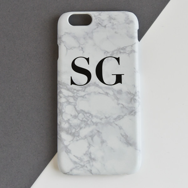 separation shoes 92cee cd8b2 Marble Personalised Phone Case