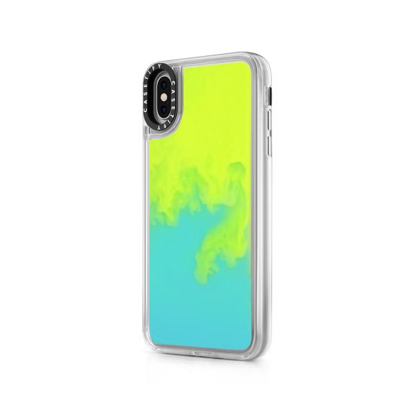 quality design 4dd72 3081c Neon Sand Liquid Case For iPhone - Exxxtra (Green / Yellow)