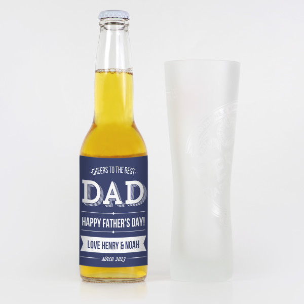 Personalised Best Dad Fathers Day Beer Labels Hardtofind