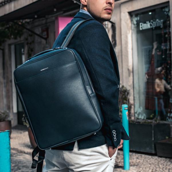 a0bd13dd658d Metropolitan business backpack (Navy)