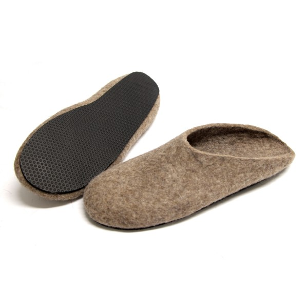 58a7466c6a31 Men s felted slippers in eco-friendly wool (various sole colours ...