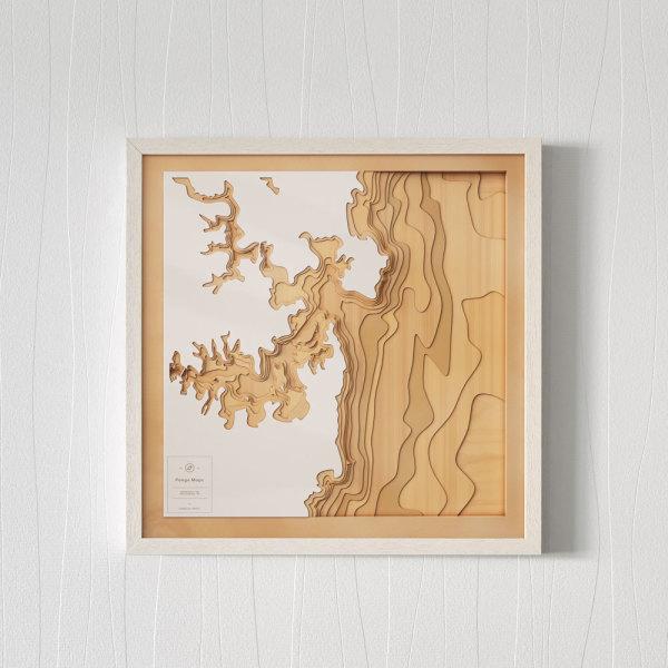 3d Map Of South Australia.Wooden 3d Contour Map Of Sydney Harbour